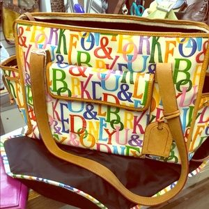 Gorgeous Dooney and Bourke baby bag bag